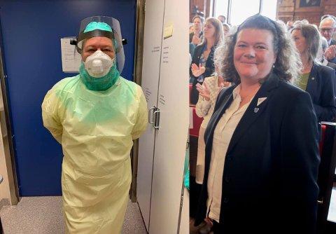 Kathy Lie er varaordfører i Viken, men nå tar hun også ekstravakter som sykepleier på Drammen sykehus.