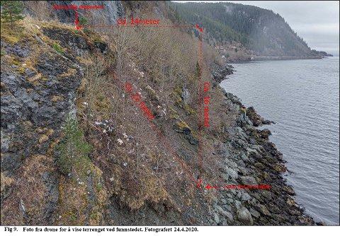 Slik var terrenget der Tirhas Tekle Kifllay ble funnet 7. april.
