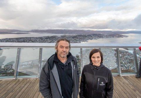 PLANER OM UTBYGGING: Driftssjef Guttorm Jakobsen og avtroppende daglig leder Maria Kristiansen. Bildet er tatt ved en tidligere anledning.