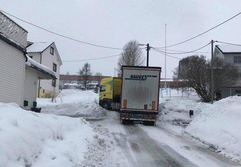BLE ADVART: Sjåføren ble advart om å kjøre opp Borgtunveien.