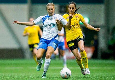 LSK kvinner og Ingrid Moe Wold (t.h.) har stø kurs mot både serie- og cupmesterskap for tredje året på rad. Foto: NTB scanpix
