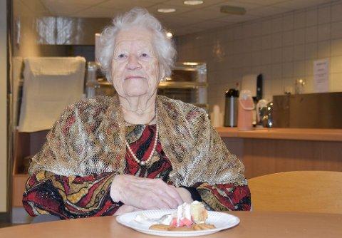 BLE 110 ÅR: Petra Høgetveit gikk bort lørdag 23. mai. Bildet er fra hennes 109-årsdag.