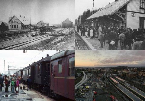 UTVIKLING: Det er ikke mye som minner om stasjonsområdet slik det så ut da Ski stasjon ble åpnet i 1879.