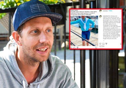 SKAPTE REAKSJONER: Morten Ramm harselerte med klesbutikken Vidars på Instagram. Det skapte reaksjoner.