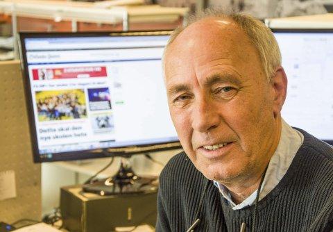 På nett: I 11 år har Bjørn-Tore Sandbrekkene bokstavelig talt vært på nett som kanalsjef for ØP's digitale satsing – en oppgave han trives godt med. Foto: Svend E. Hansen