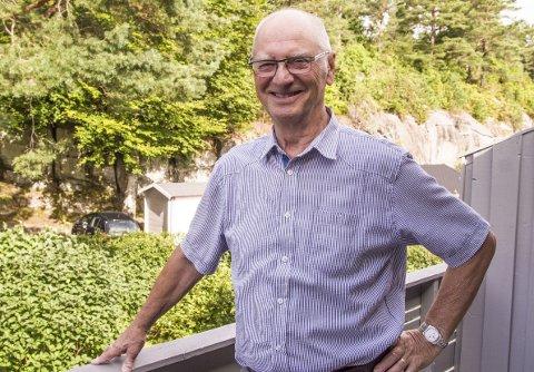 Engasjert: – Sosialt samvær betyr mye for meg, sier 75-årsjubilanten Per Ludvik Gjerken, som er engasjert i foreningsliv og som blant annet har 42 år bak seg i Stavern Mannskor. Foto: Svend E. Hansen
