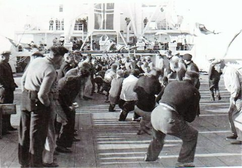Tautrekking på F/K Norhval 1946