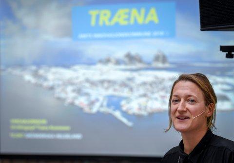 Gründeruka Helgeland 2018. På Campus Helgeland. Tenk Træna ved Moa Björnson holdt foredrag om hvordan Træna vant årets innovasjonspris 2018.