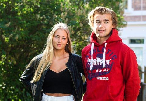 Cecilie Meberg Schjetlein (18) og Magnus Pettersen Gruer (16)  mener grunnen til at flesteparten har valgt russevan tidligere har med tradisjon å gjøre.