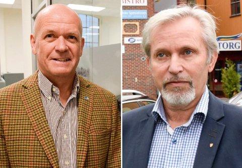 ORDFØRERKANDIDAT: Syver Leivestad (t.v.) kan bli Holes nye ordfører. Per R. Berger gir seg som ordfører ved høstens valg.