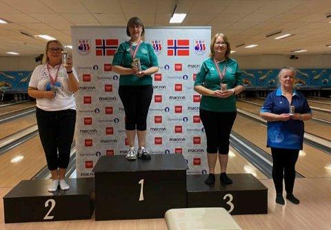 NM DAMER: 1: Trude Nilsen. 2: Ine Lorentzen. 3: Anita Navelsaker Jonsson. 4: Astri Garaguso.