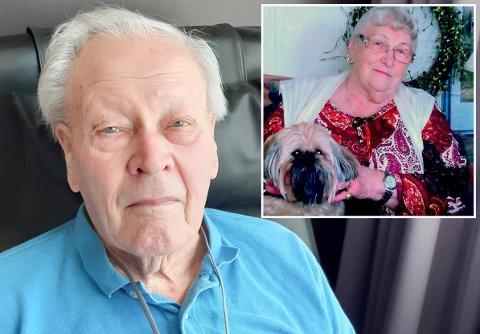 HOTELLGJEST: Hans Myhre fra Jevnaker bor på hotell for første gang i sitt liv. 92-åringen er flyttet fra JORS på Jevnaker til Sundvolden Hotel i forbindelse med korona-epidemien. Det betyr at han går glipp av 89-årsdagen til kona Maren Elise.