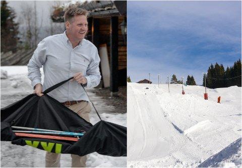 VIL UTVIDE: Pelle Gangeskar er leder i Haugsbygd Adrenalin. Klubben har spurt kommunen om å få hogge skog ved alpinanlegget.