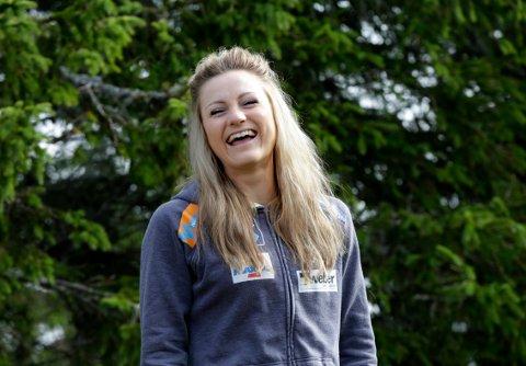 Martine Ek Hagen kan smile. Hun har fått sine rettsmessige prispenger etter sin eneste verdenscupseier i 2015. Foto: NTB