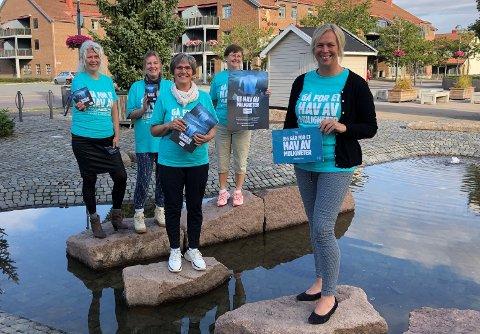 OPPFORDRING: Holmestrand kommune, her med ordfører Elin Gran Weggesrud i spissen, oppfordrer innbyggere til å melde seg som digitale bøssebærere til årets tv-aksjon.