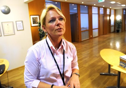 GLEDELIG: Markeds- og kommunikasjonssjef Tine Kleive-Mathisen synes det er gledelig at trafikken begynner å ta seg opp på Torp.