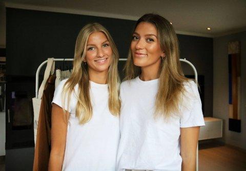 I GANG: Martine Lima og Henriette Sørensen (24) har lansert sitt eget klesmerke.