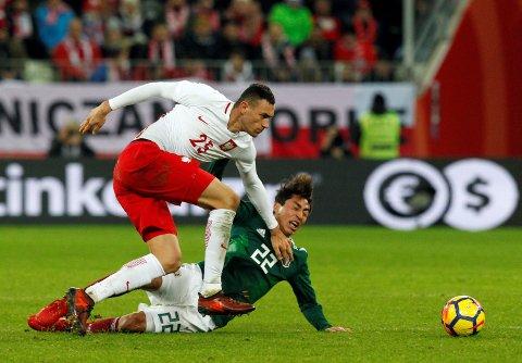 Ble tilbudt: Crystal Palace spiller Jaroslaw Jach under landskampen mot Mexico, ble tilbudt til Sarpsborg 08.