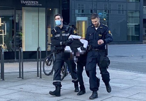 Politiet har pågrepet eller innbrakt 14 personer etter bråket i Fredrikstad sentrum på kvelden 17. mai.