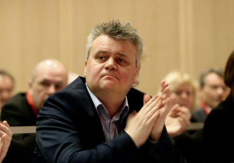 Oslo  20170221. Jørn Eggum leder i Fellesforbundet  på representantskapsmøte tirsdag i Folkets Hus i Oslo.  Foto: Vidar Ruud / NTB scanpix