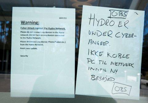 MINUS: Hydro gikk så vidt i minus og endte med et underskudd på 8 millioner kroner før skatt i andre kvartal.