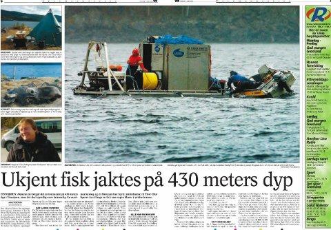 UKJENT FISK: Den ukjente fisketypen ble først sett i 1993, gjenoppdaget i 2004 og hentet opp i 2005.