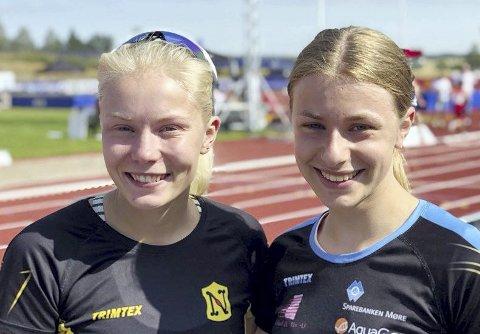 I NM: Elise Hoel Ulseth (til venstre) og Lisa Wilker hoppet lengde i senior-NM.