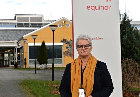 Lena Skogly er fabrikksjef på Equinors metanolfabrikk på Tjeldbergodden.