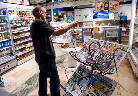 Nasjonale løssalgsaviser, der aviser som VG og Dagbladet inngår, var den eneste gruppen som økte annonseinntektene i fjor. De hadde en vekst på nesten 12 prosent.
