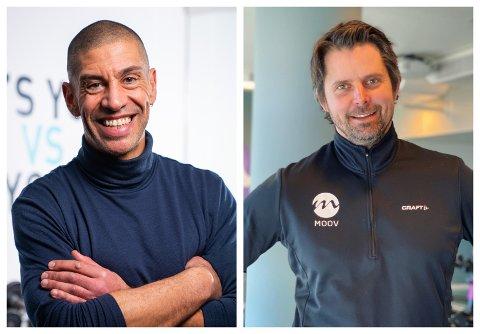 ONLINE: Yngvar Andersen og André Slaattelid er to av instruktørene som skal få studentene i form.