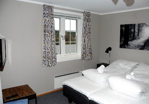 Nyoppussa: Åtte dobbeltrom og fire enkeltrom er så langt pussa opp. Lyse farger, flislagte bad og flatskjerm på alle rom hører med.