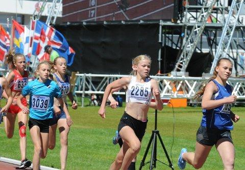 Slo gjennom: Sunniva Fjeld (2285) slo for alvor gjennom som mellomdistanseløper da hun tok sølvet i Världsungdomsspelen på Nya Ullevi i Göteborg i fjor.
