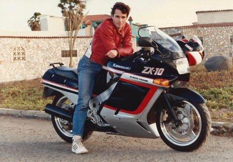 BARSK PÅ SYKKEL: Å kjøre tung sykkel var en stor del av livet som ungdom for Paal Cronblad Wollan. Den interessen lever fortsatt!