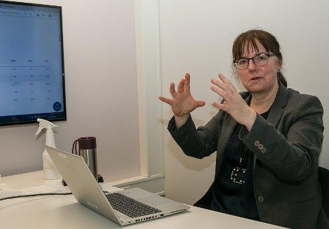 Smidig stab: Kommunedirektør Wenche Folberg er ikke sen om å trekke fram fleksibiliteten til de ansatte, som en viktig faktor til at Nesodden kommune oppnådde et positivt driftsresultat også for 2020. Foto: Staale Reier Guttormsen