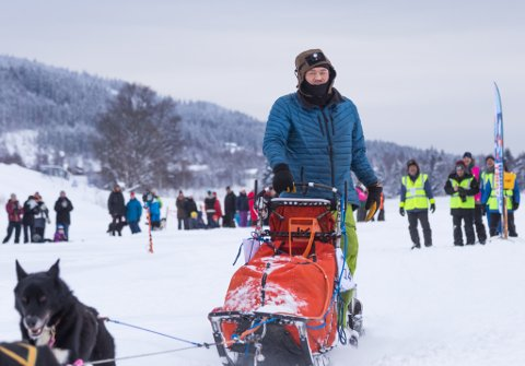 Lars Monsen ved sjekkpunkt Trysil, Femundløpet 2019.