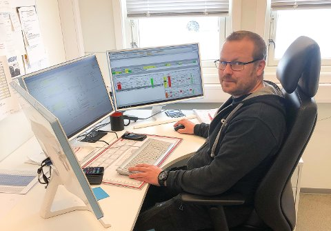 PÅ JOBB: Håvar Skogås er befrakter hos Galåen Transport AS.