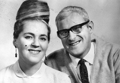 Kari og Ivar Medaas frå tida paret var med i Grand Prix i 1967. Arkivfoto: BA