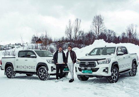 GLADE GUTTER: Benjamin Strøm (t.v) og Espen Pedersen (t.h) går sammen med Nordvik Gruppen for å etablere aksjeselskap.
