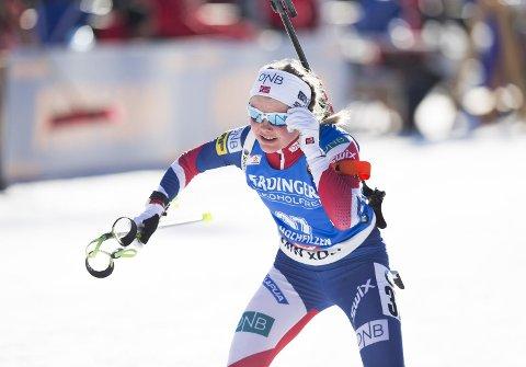 Hilde Fenne vant NM-gullet på skiskyttersprinten i Mo i Rana. (Arkivfoto: Berit Roald/NTB scanpix)