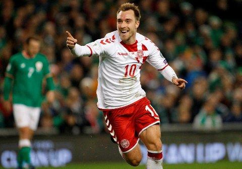 Christian Eriksen er den største stjernen på det danske laget. (Foto: NTB scanpix)