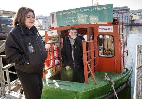 Trond Breidmyr er nå ny driver av båtruten over Vågen fra Bradbenken til Nykirkekaien på Nordnes. Samboeren Linda Holmedal er fortsatt skipper på Beffen, men ansatt i Breidmyrs nye selskap. Hun leier ut den gamle Beffen til Breidmyr. ARKIVFOTO: EIRIK HAGESÆTER