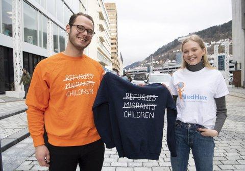 I 2018 ble aksjonsgenserne til Medisinstudentenes Humanitæraksjon (MedHum) en global hit. – Vi vil fokusere på barn og                      unge denne gangen også, sier nasjonal leder for MedHum, David Teigen (24). Her med Marta Røttingen Enden (21) som er               leder for MedHum Bergen