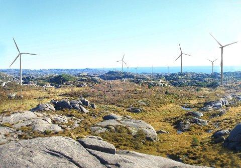 SERVICEBASE I EIGERSUND: Senvion opprettar servicebase for å utføra service på møllene i Egersund vindpark.
