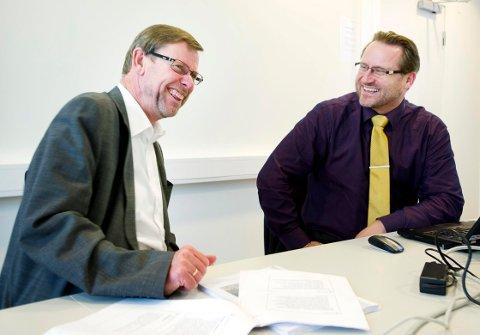 NYTT SYKEHUS: Nils Fr. Wisløff og Finn Egil Holm i Vestre Viken HF.
