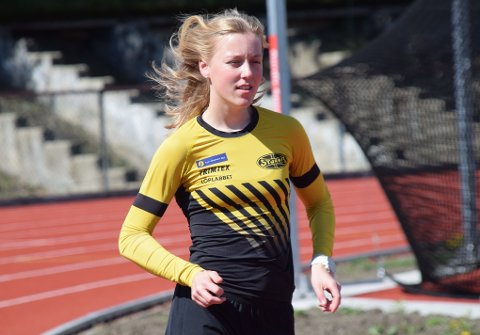 Solid: Maren Karlsen Bekkestad fra Mjøndalen klarte EM-kravet på ti kilometer kappgang med over to minutters margin.