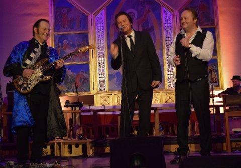FAB-3: Vidar Busk, Paal Flaata og Stephen Ackles i aksjon i Brevik kirke i januar