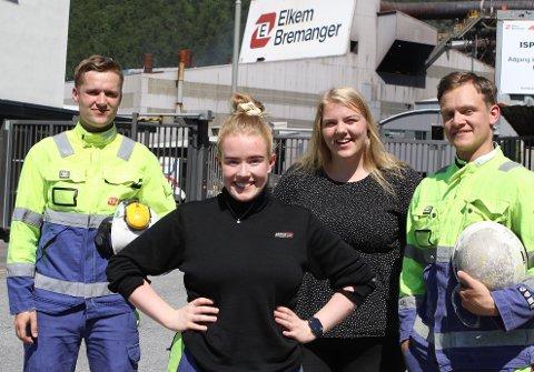 Frå venstre: Anders Frøyen (23), Malene Solvang (20), Marita Gjerde (22) og Vincent Førde (23)