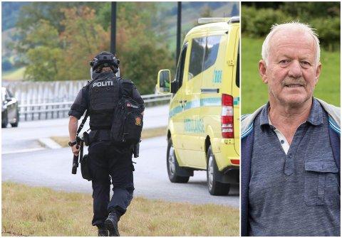 REAGERER: Knut Huus reagerer på det han meiner er amerikanske tilstandar i Jølster under den væpna aksjonen onsdag.