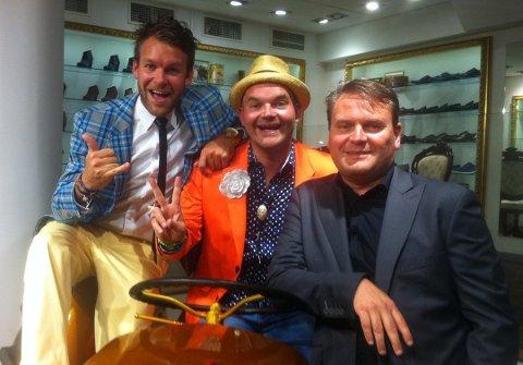 VEKST OG FALL: Peder Børresen (f.v.), Simen Staalnacke og Jan Egil Flo i Moods of Norway. No er dei i gang igjen, med ny butikk i Oslo sentrum.