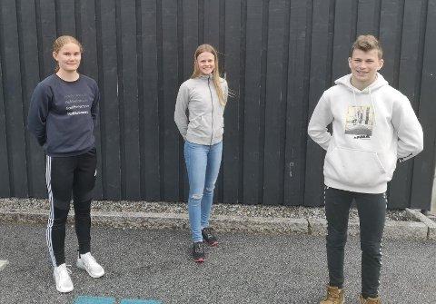 TOPPEN: Thea Lovise Holsen, Guri Line Brekke og Anders Viken blei det nest beste laget i landet. Dei kan likevel kome til Europa-finalen.